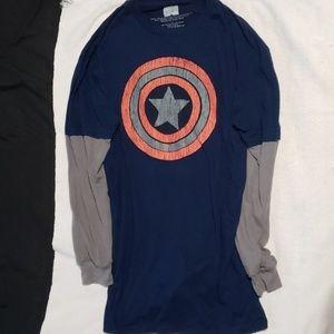 LG Marvel Captain America 2 Tone Shirt